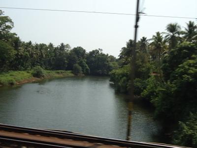 Kurumali River. View From Railway Bridge Near Pudukkad