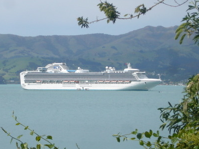 The Sapphire Princess In Akaroa Harbour