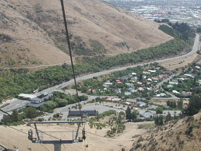 View From Gondola Into Heathcote Valley