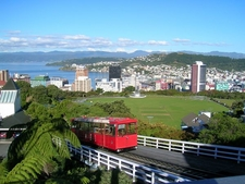 Wellington NZ Cablecar Topview