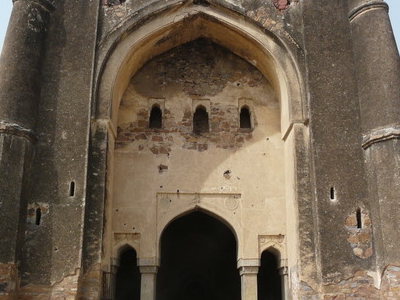 Begumpur Masjid Central Pishtaq On West Wall