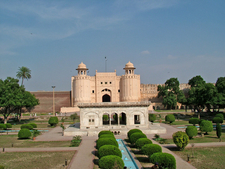 Hazuri Bagh Baradari With Lahore Fort