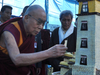 His Holiness The Dalai Lama On A Visit To The Gopalpur TCV School