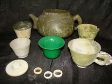 Jade And Serpentine Crockery - Local Name: Zaharmora From Khotan Period: 17th Century