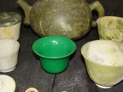 Jade And Serpentine Crockery - Local Name: Zaharmora From Khotan Period: 17th Century