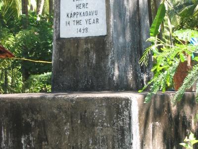 Vasco Da Gama Landed Here At Kappkadavu