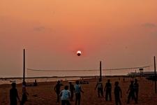 An Evening View Of Kollam Beach