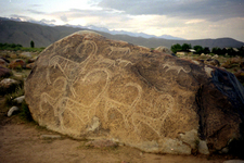 A Boulder-Strewn Slope At Cholpon-Ata Has Numerous Examples Of Petroglyphs