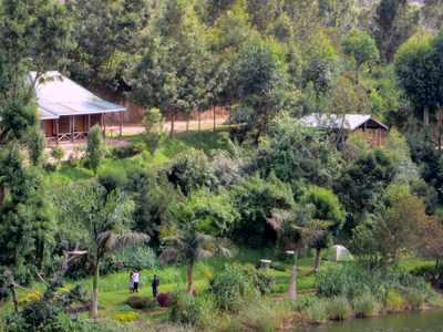 Camp On The Shore Of Lake Bunyonyi