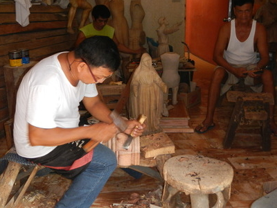 Wood Carving Shop In Paete
