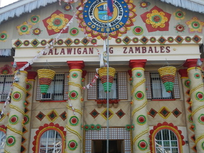 Provincial Capitol In Iba Decorated For The Mango Festival