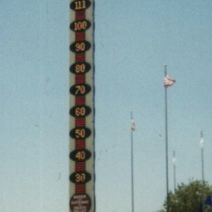 View Of World's Tallest Thermometer