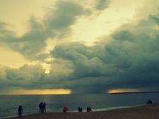 View Of Arabian Sea From Kollam Beach