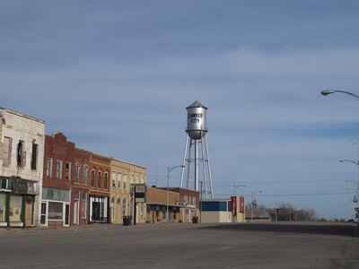 Water Tower And Downtown