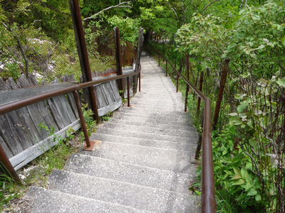 Steep Stairs Lead To The Top