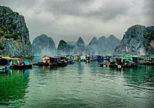 Asia Golden Holidays Fishing Villages At Halong Bay