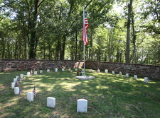 The Circle Of 25 Graves At Ball's Bluff