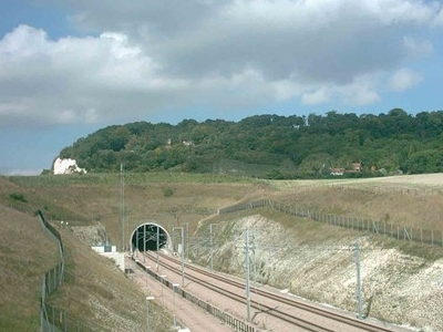 The High Speed 1 Tunnel Portal At Blue Bell Hill