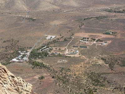 View Of Bonnie Springs Ranch From The Spring Mountains