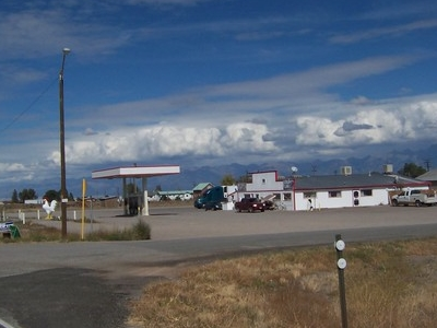 Cafe And Truck Stop On State Highway 17