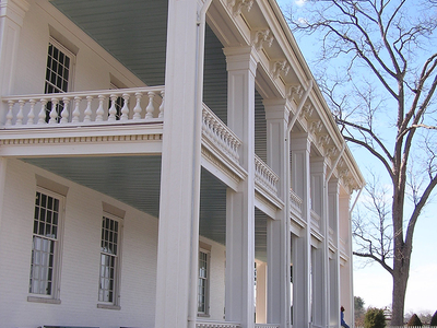 Carnton's Greek Revival Style Back Porch