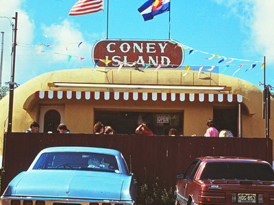 Coney Island Hot Dog Stand In Aspen Park