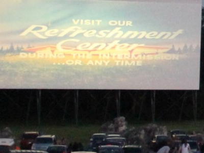 The Welcome Screen At Cumberland Drive-In Theater