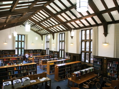 Part Of The Interior Of The Hauser Memorial Library