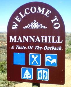 Mannahill Entry Sign
