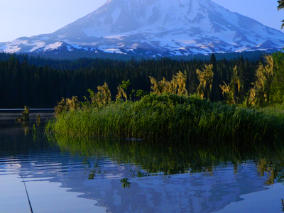 Mount Adams Seen From Picturesque Takhlakh Lake