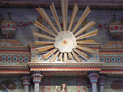 Ojo De Dios, Above Altar