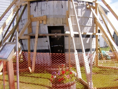 Pickle Barrel House Under Repair