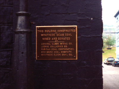 Plaque On The Coal House