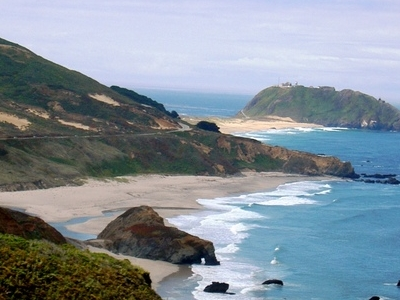 Point Sur, Seen From The North On Highway 1
