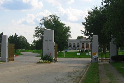 The Main Gate Of Resurrection Cemetery On Archer Avenue