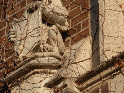 Architectural Sculpture Above An Entrance To Somsen Hall