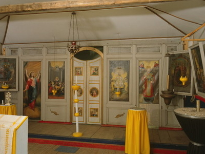 Interior Of The Old St. Nicholas Russian Orthodox Church