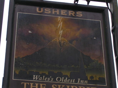 The Skirrid Mountain Inn Sign