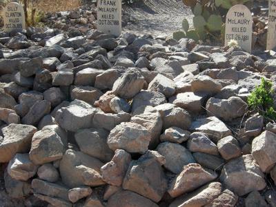 Graves Of Billy Clanton And The McLaury Brothers