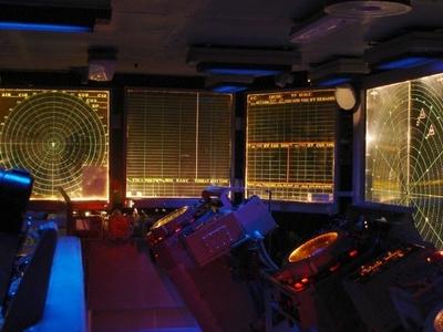 CIC (Combat Information Center) In Dim Light