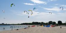 Kitesurfers At Amager Strandpark