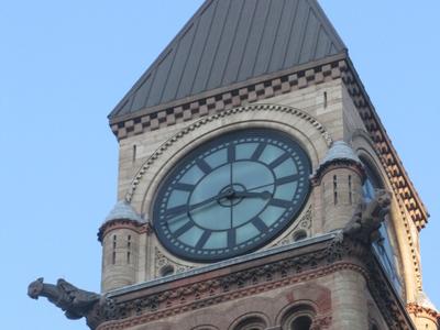 Clock Tower Old City Hall Toronto