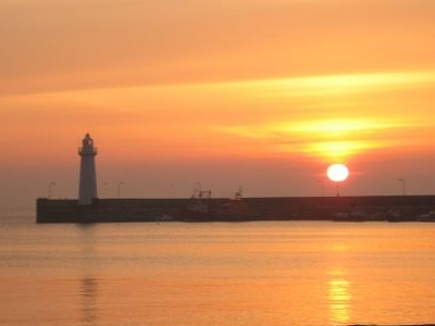 Donaghadee Town And South Pier Sunset