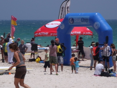 Kayaking Competition At Cottesloe Beach
