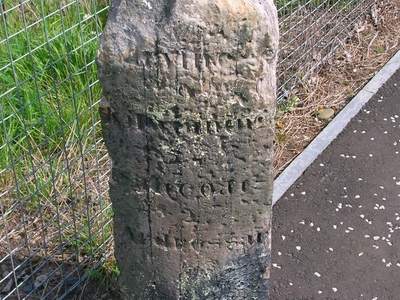 Old Toll Road Milestone Near North Beach
