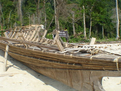 Moken Boat In Surin Islands