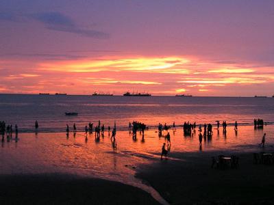 Sunset At Patenga Beach
