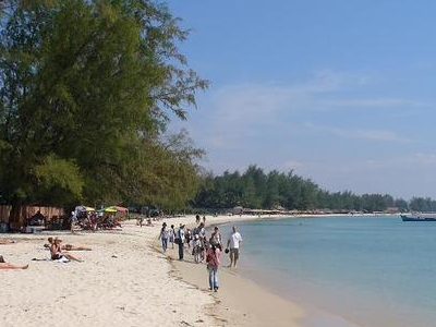 Tourists At Serendipity Beach