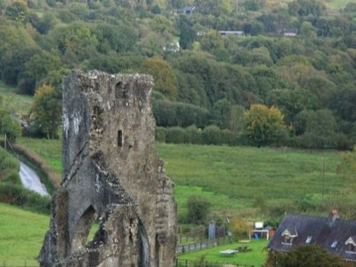 Talley Abbey From Hillside