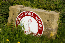 North York Moors National Park Sign